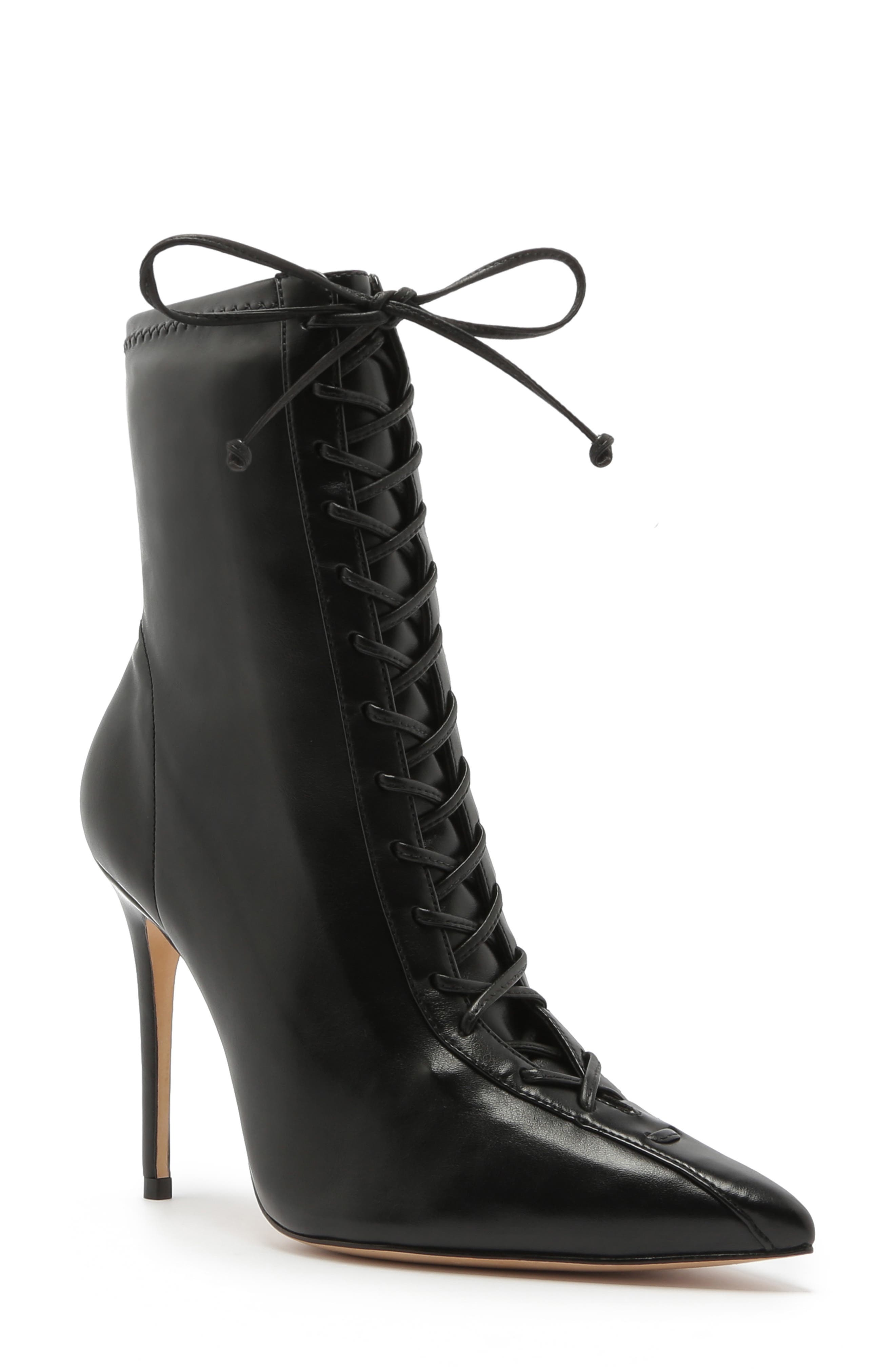Schutz Tennie Pointed Toe Lace-Up Boot