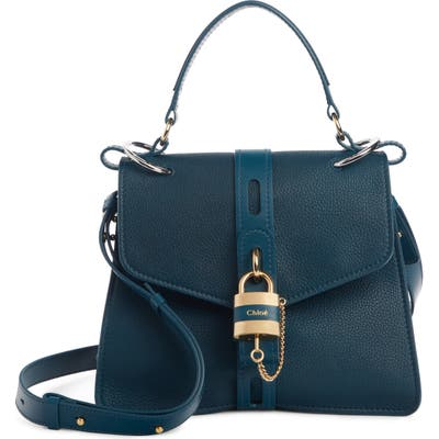Chloe Aby Medium Leather Shoulder Bag - Blue