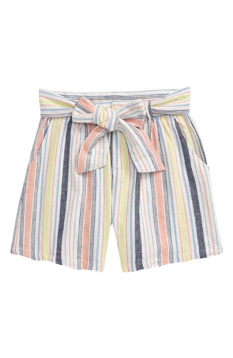 HABITUAL GIRL Stripe Shorts, Main, color, 650