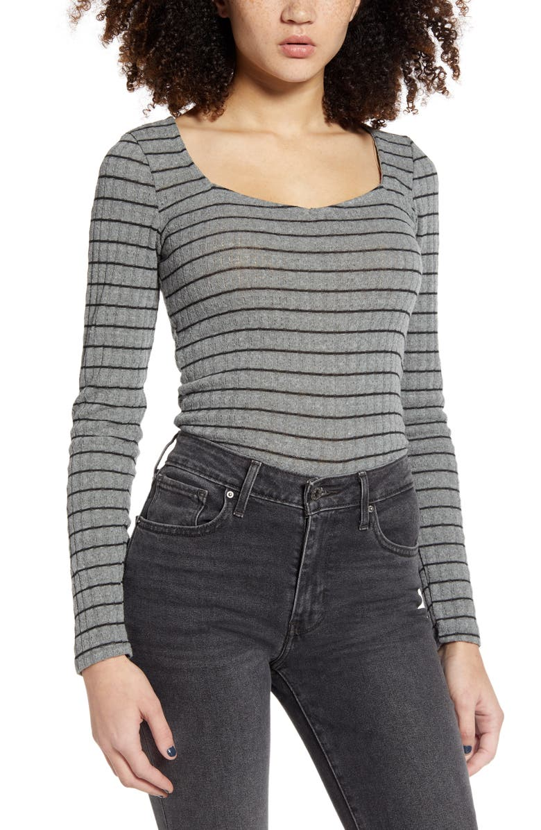 PROJECT SOCIAL T Kimora Sweetheart Knit Top, Main, color, 020