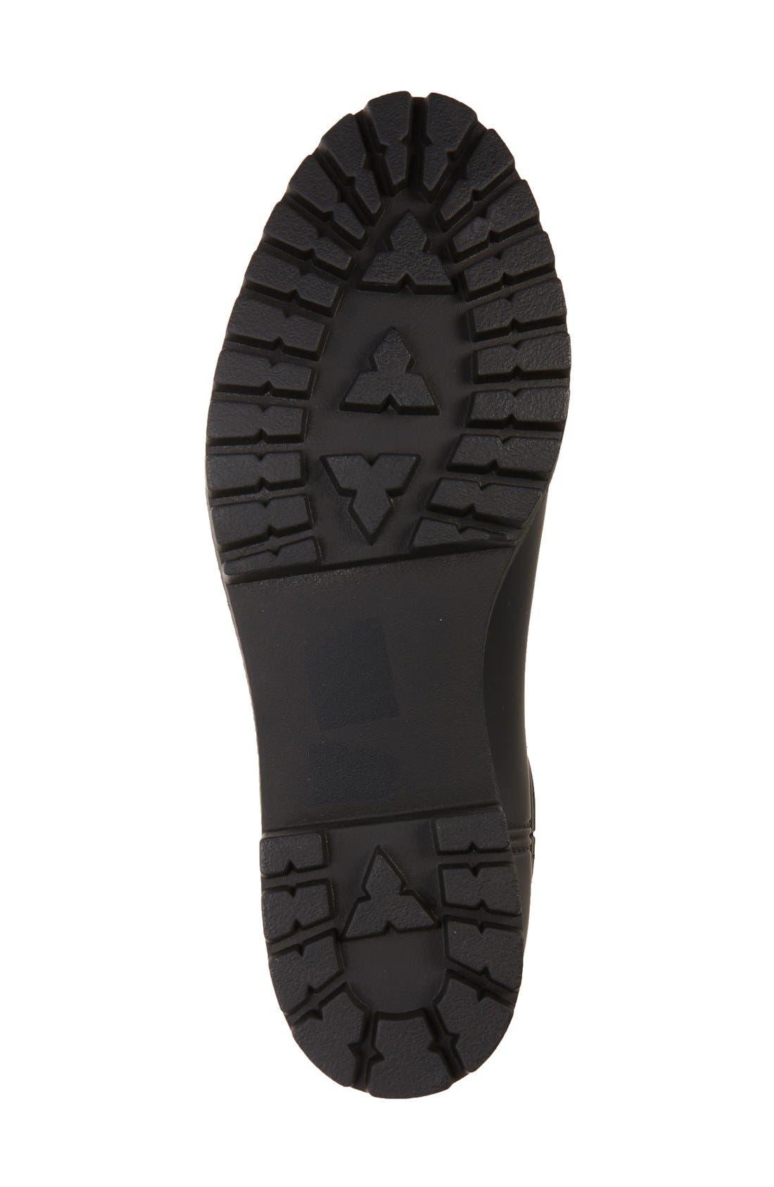 ,                             Cloudy Waterproof Chelsea Rain Boot,                             Alternate thumbnail 3, color,                             BLACK MATTE BLACK