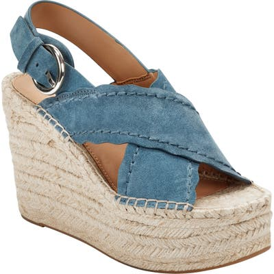 Marc Fisher Ltd Aria Espadrille Slingback Sandal- Blue