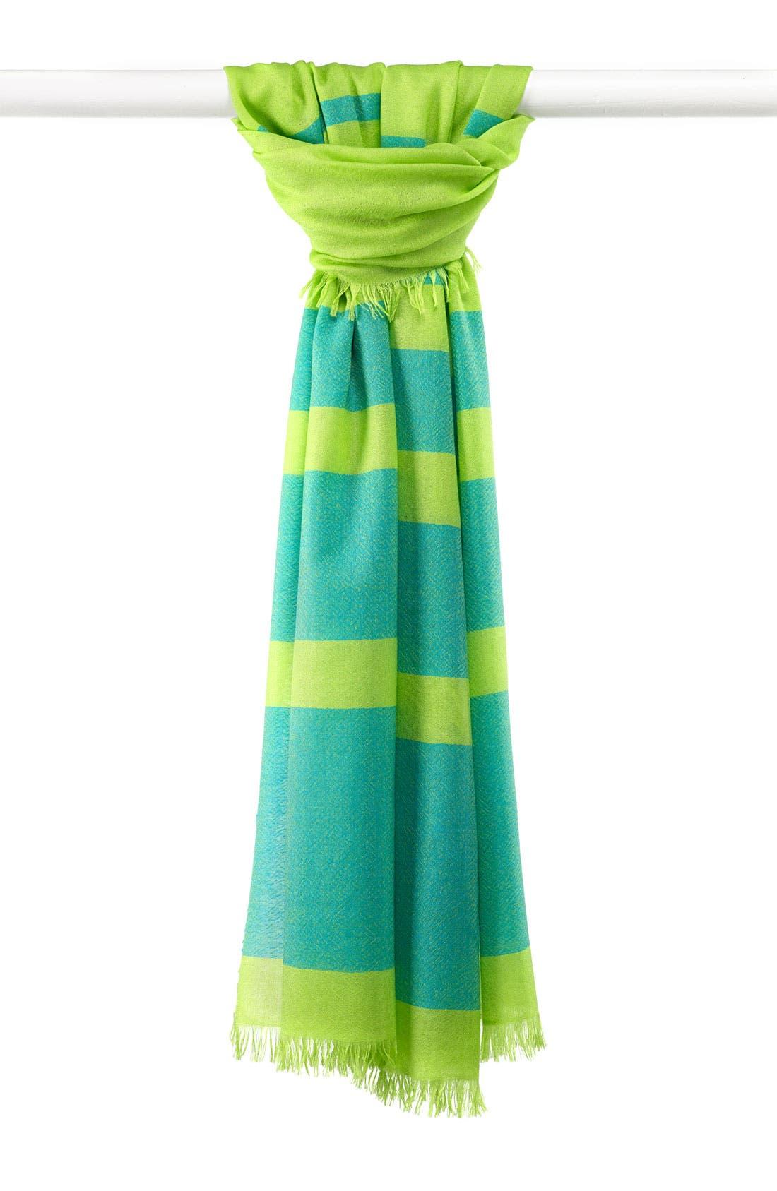 ,                             'Eyelash' Colorblock Cashmere Wrap,                             Main thumbnail 30, color,                             312