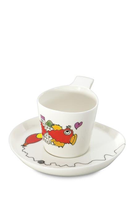 Image of BergHOFF Eclipse Porcelain Codriez 0.24L Tea Cup & Saucer Set