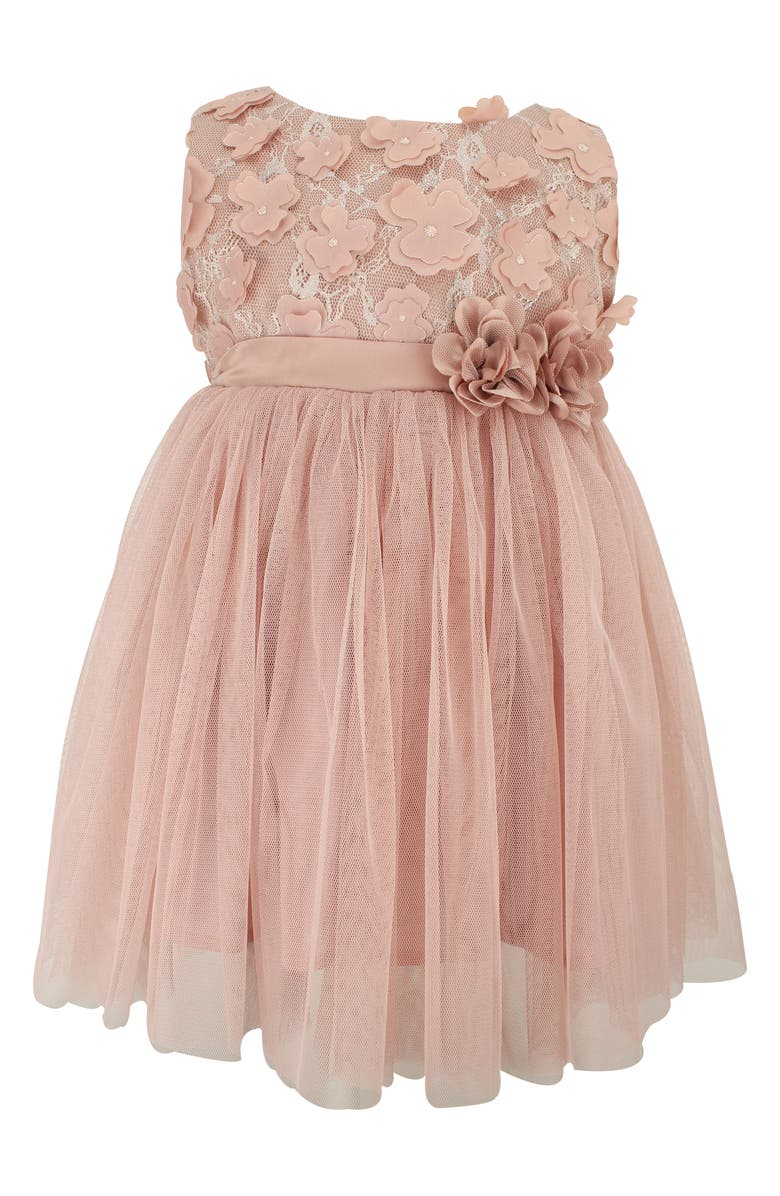 POPATU Floral Lace & Tulle Dress, Main, color, DUSTY PINK