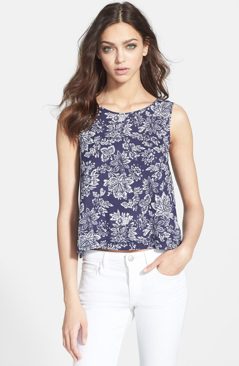 ACE DELIVERY Floral Print Tank, Main, color, 435