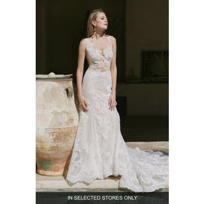 Watters Tori Illusion Lace Wedding Dress, Size IN STORE ONLY - Ivory