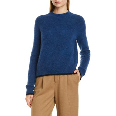 Vince Tipped Alpaca & Merino Wool Blend Crewneck Sweater, Blue