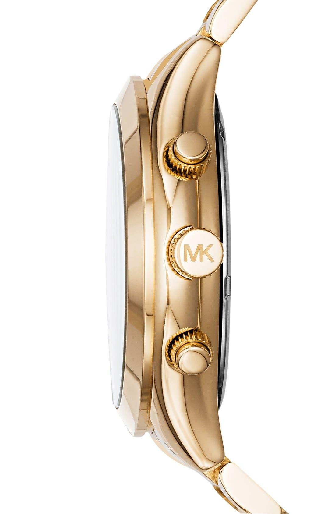 ,                             Michael Kors 'Slim Runway' Chronograph Bracelet Watch, 42mm,                             Alternate thumbnail 14, color,                             710