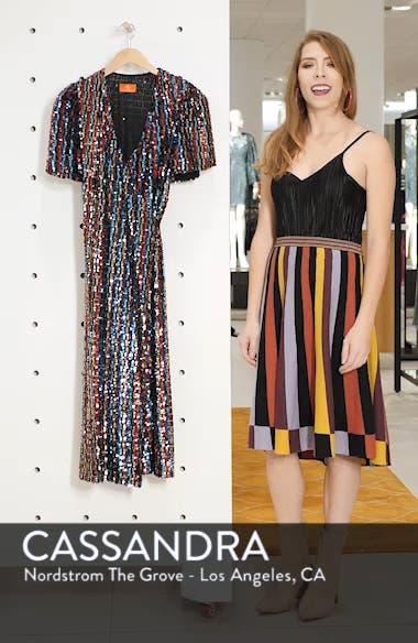 Multicolor Sequin Wrap Dress, sales video thumbnail