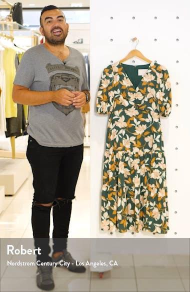 Tegan Floral Print Tiered Midi Dress, sales video thumbnail