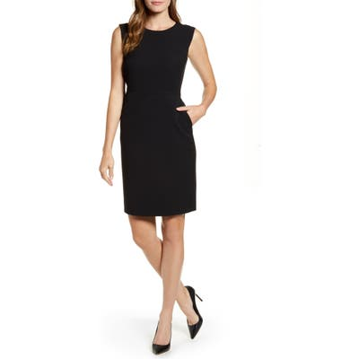 Anne Klein Crepe Sheath Dress, Black