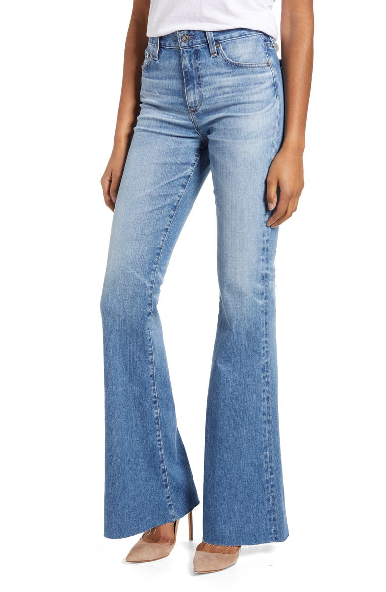 AG Quinne High Waist Flare Jeans, Main, color, 20 YEARS DUPLICITY