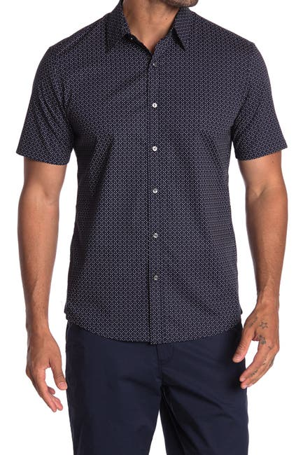 Image of Michael Kors Slim Fit Short Sleeve Printed Shirt