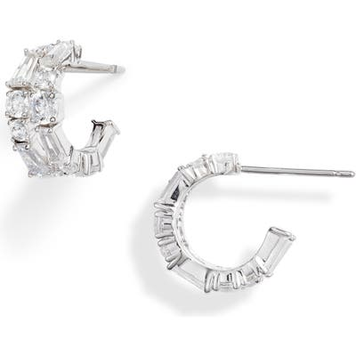 Nadri Bouquet Hoop Earrings
