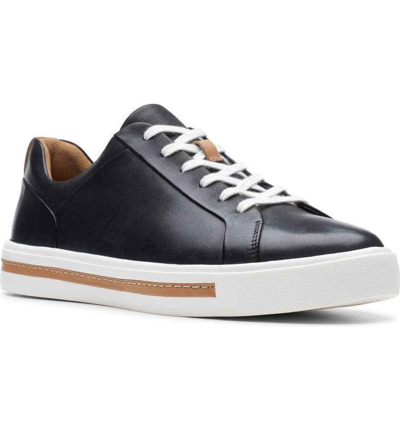 CLARKS<SUP>®</SUP> Un Maui Sneaker, Main, color, BLACK/ BLACK LEATHER