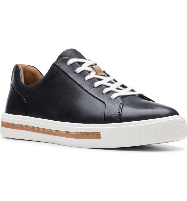 CLARKS<SUP>®</SUP> Un Maui Lace Sneaker, Main, color, BLACK/ BLACK LEATHER