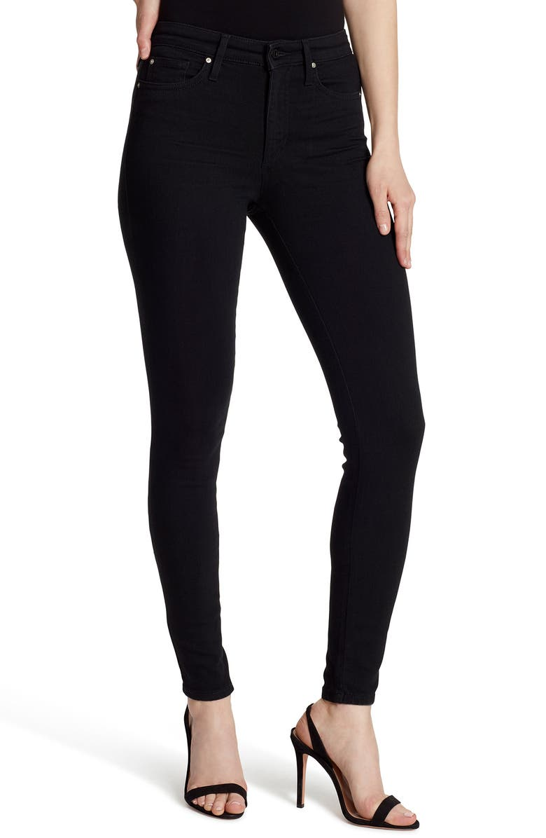 ELLA MOSS High Waist Skinny Jeans, Main, color, OD BLACK