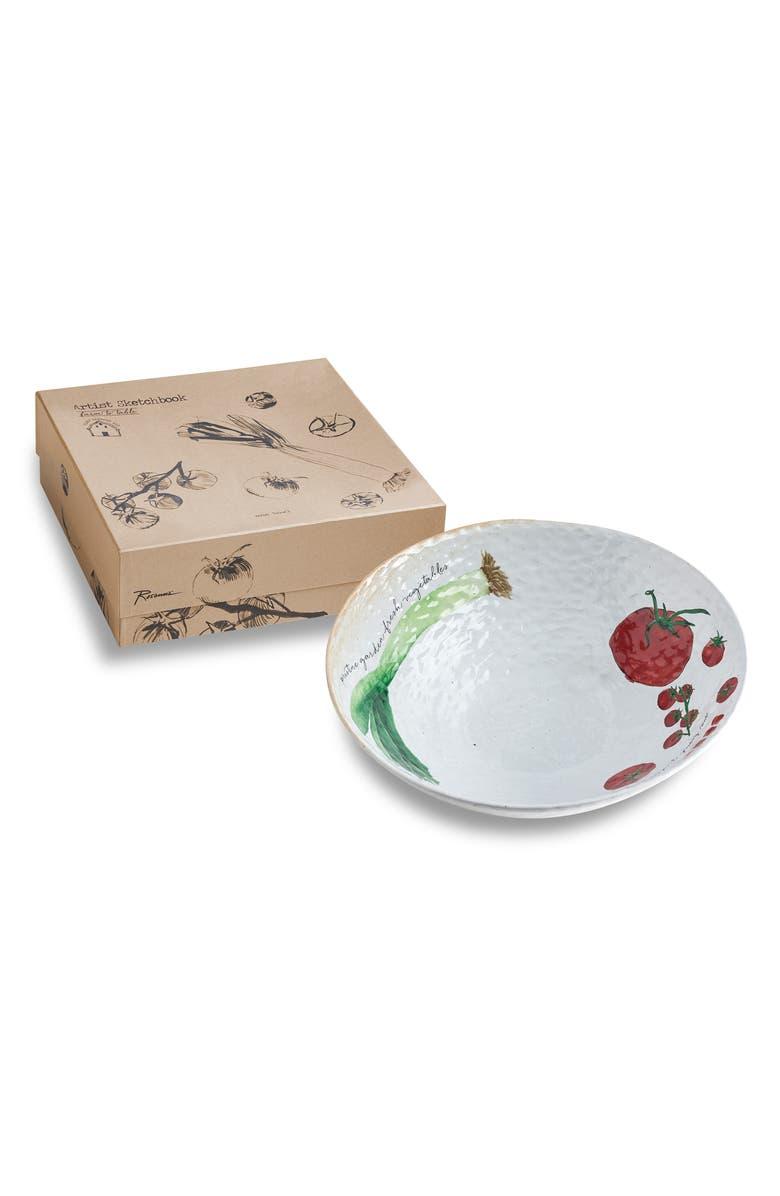 ROSANNA Leek Serving Bowl, Main, color, BEIGE/MULTICOLOR
