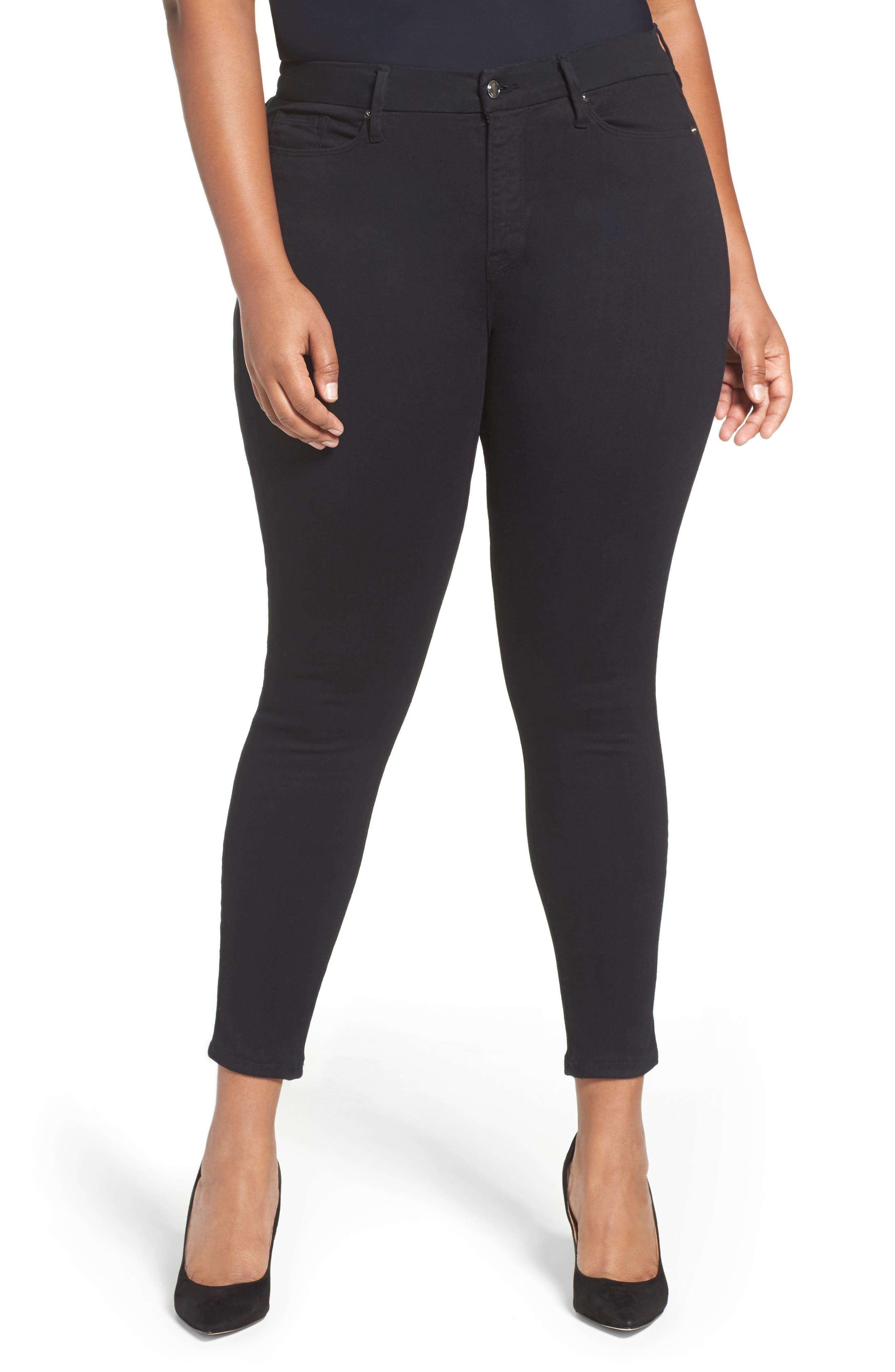 ,                             Good Legs High Rise Skinny Jeans,                             Alternate thumbnail 4, color,                             BLACK 001