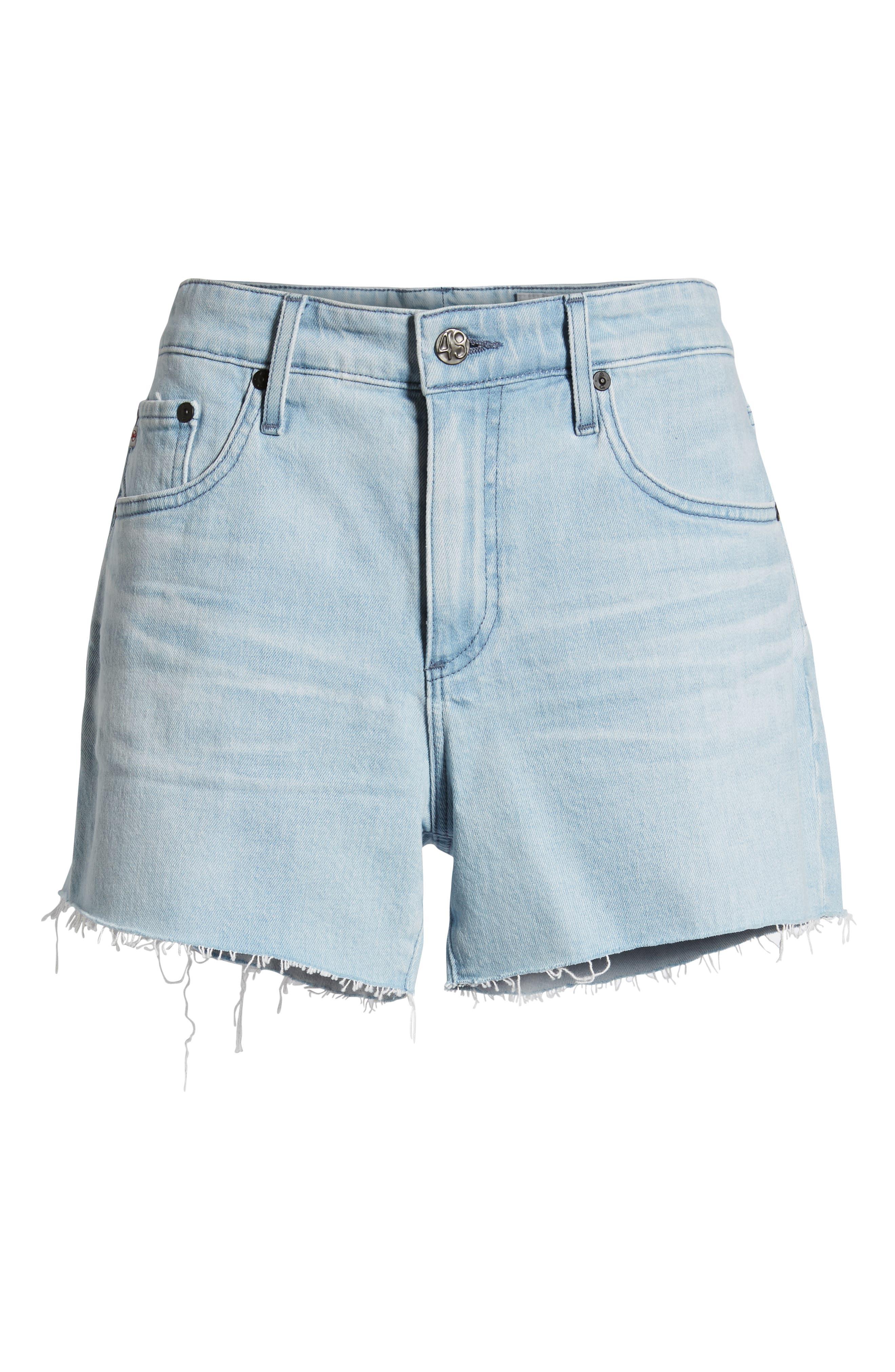 ,                             Hailey Boyfriend Cutoff Denim Shorts,                             Alternate thumbnail 7, color,                             26 YEARS SANGUINE