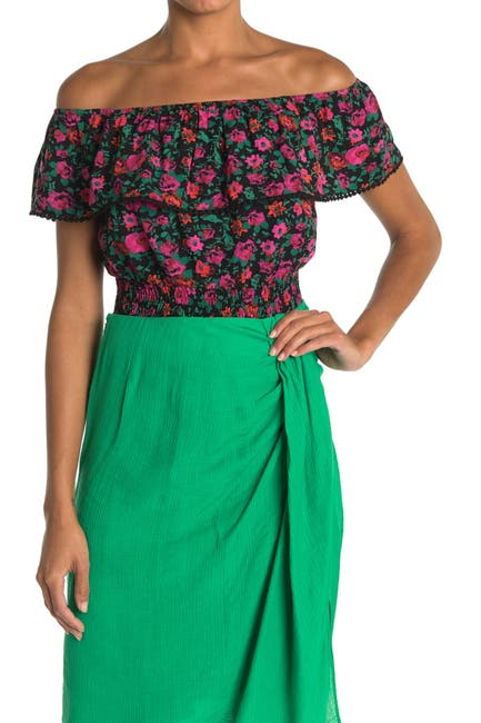 Image of Lush Smocked Off-the-Shoulder Top