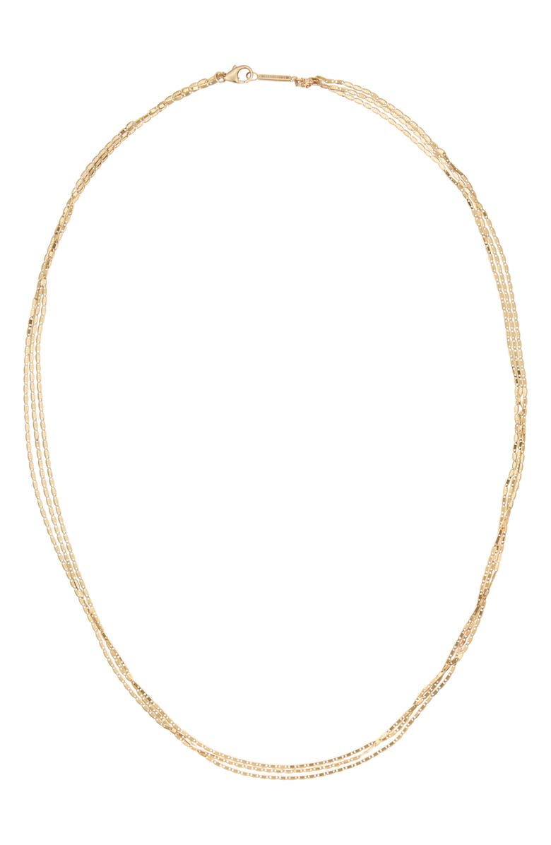 LANA JEWELRY Malibu Triple Layered Necklace, Main, color, YELLOW GOLD