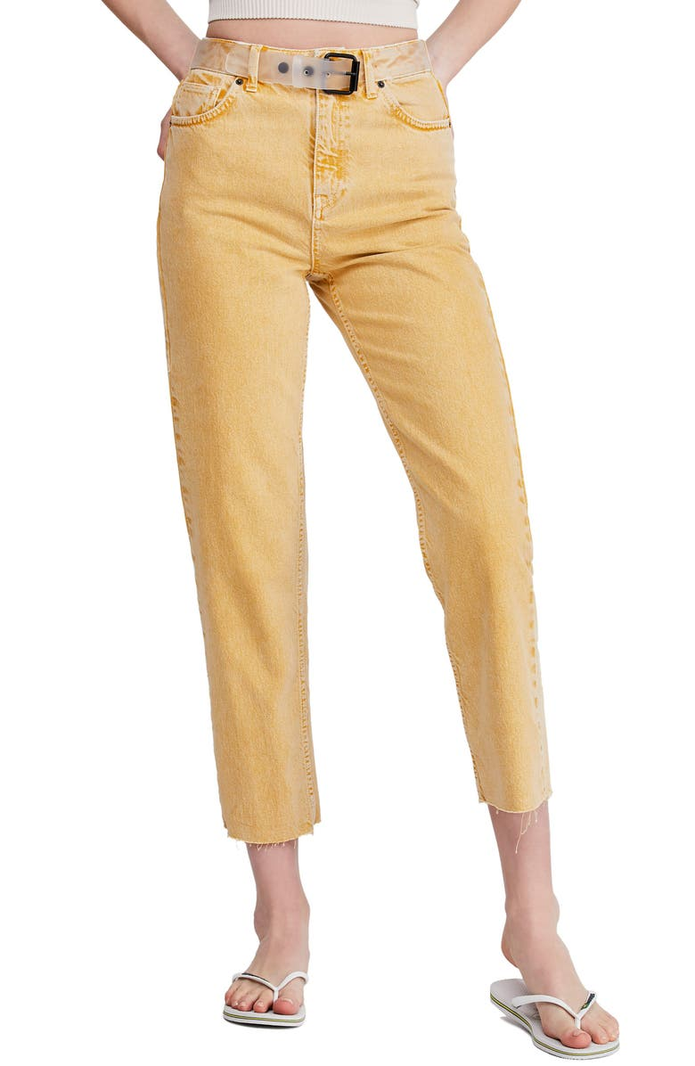 BDG Urban Outfitters Pax High Waist Jeans, Main, color, SUN YELLOW