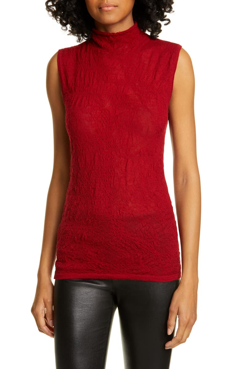 HELMUT LANG Merino Wool Blend Mock Neck Top, Main, color, 608