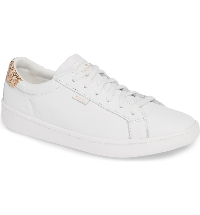 KEDS<SUP>®</SUP> FOR KATE SPADE NEW YORK ace glitter sneaker, Main, color, 100