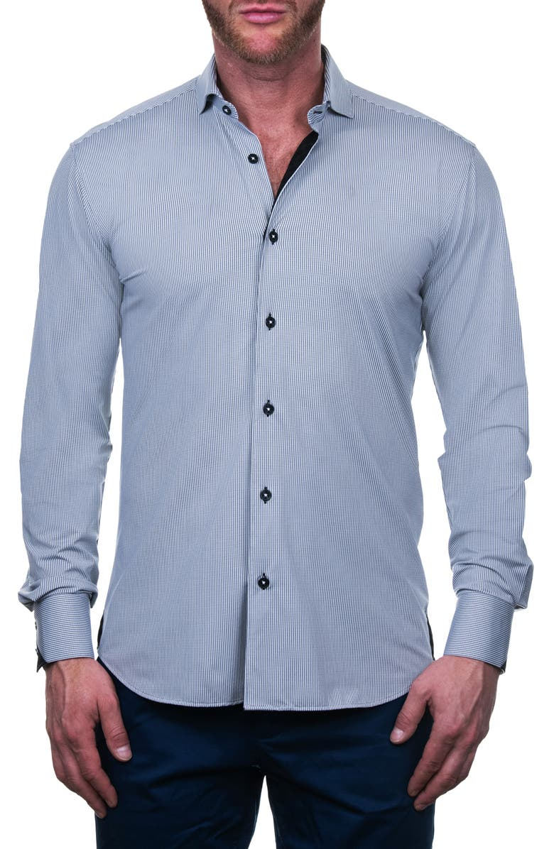 MACEOO Einstein Domino Regular Fit Button-Up Shirt, Main, color, 110