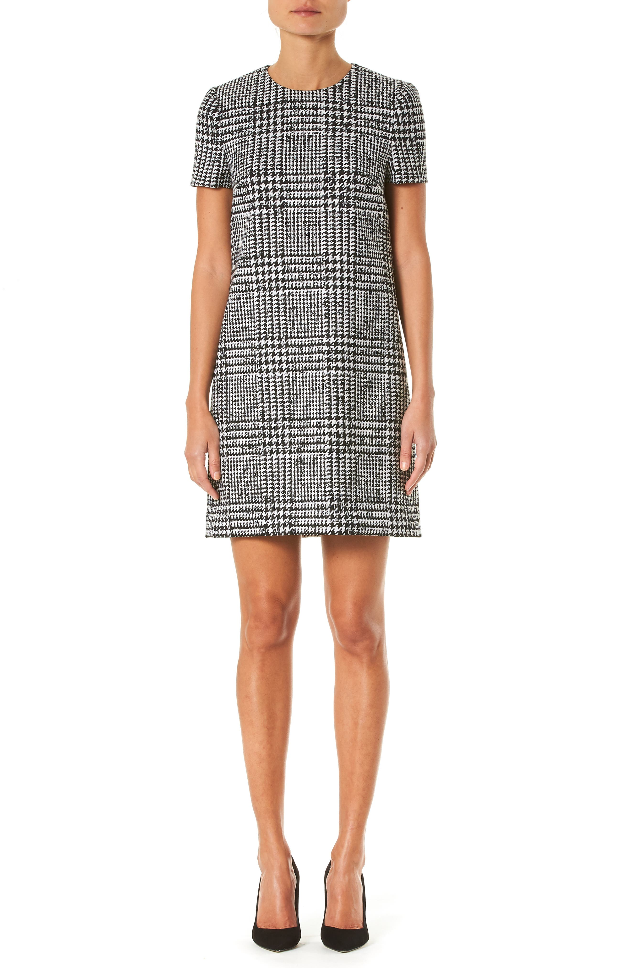 Carolina Herrera Dresses Glen Plaid Wool & Silk Shift Dress