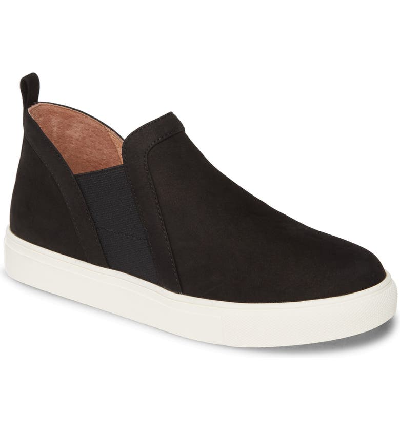 CASLON<SUP>®</SUP> Ezra Slip-On Sneaker, Main, color, BLACK NUBUCK