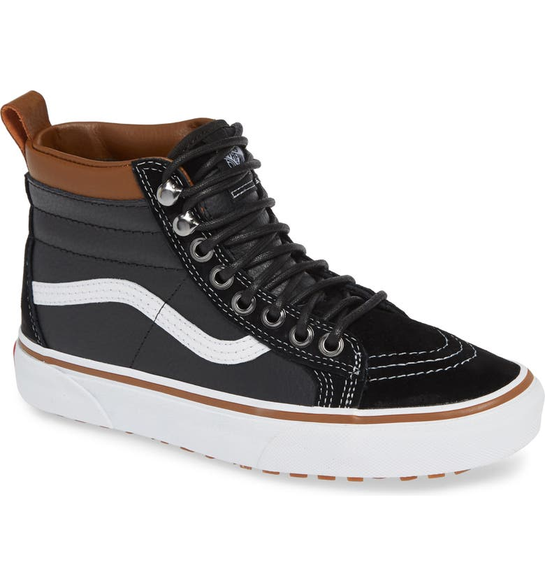 VANS Sk8-Hi MTE Sneaker, Main, color, LEATHER/ BLACK/ TRUE WHITE