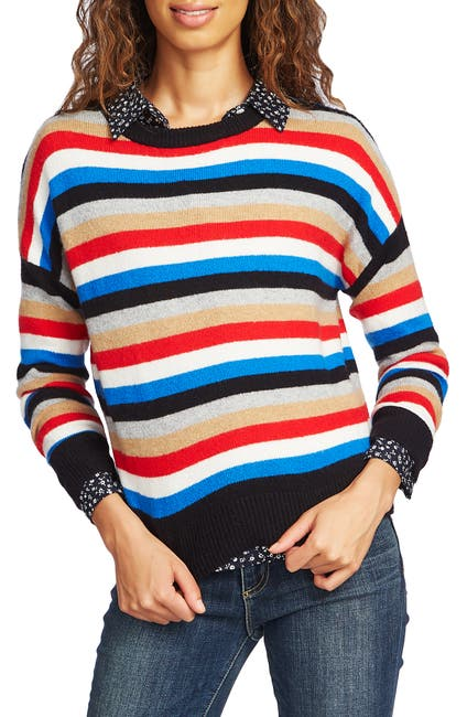Image of COURT AND ROWE Stripe Crop Sweater