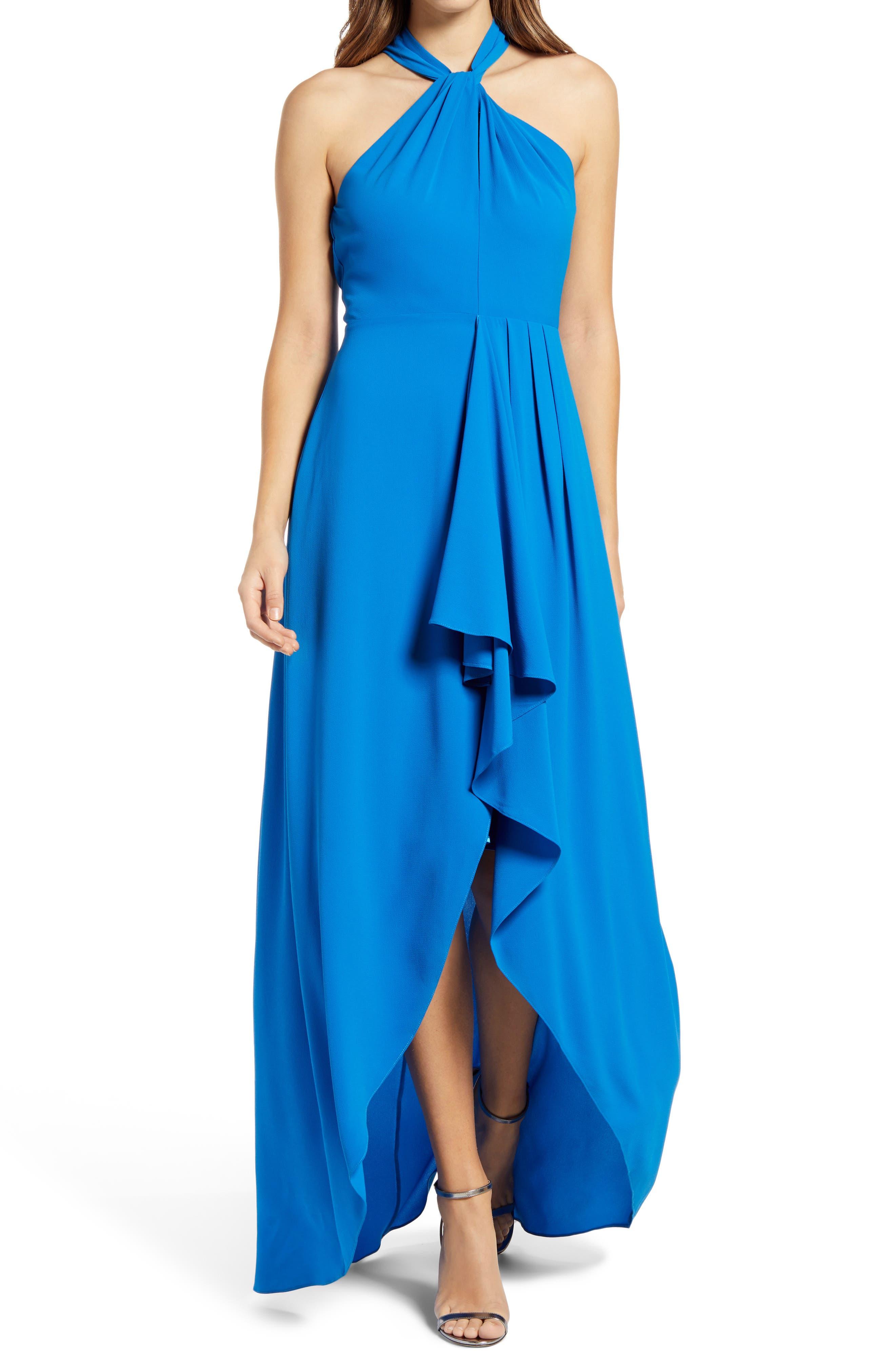 Women's Mark + James Badgley Mischka Reo Halter Neck Georgette Maxi Dress