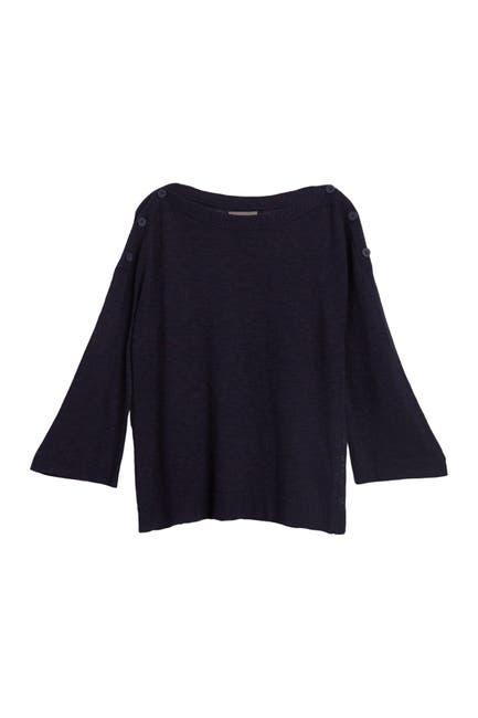 Image of Michael Stars Colette Button Trim Sweater