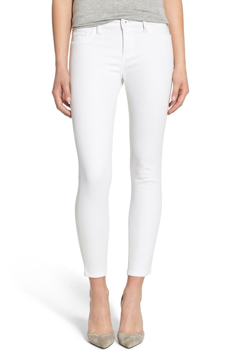 DL1961 'Florence' Instasculpt Crop Skinny Jeans, Main, color, PORCELAIN
