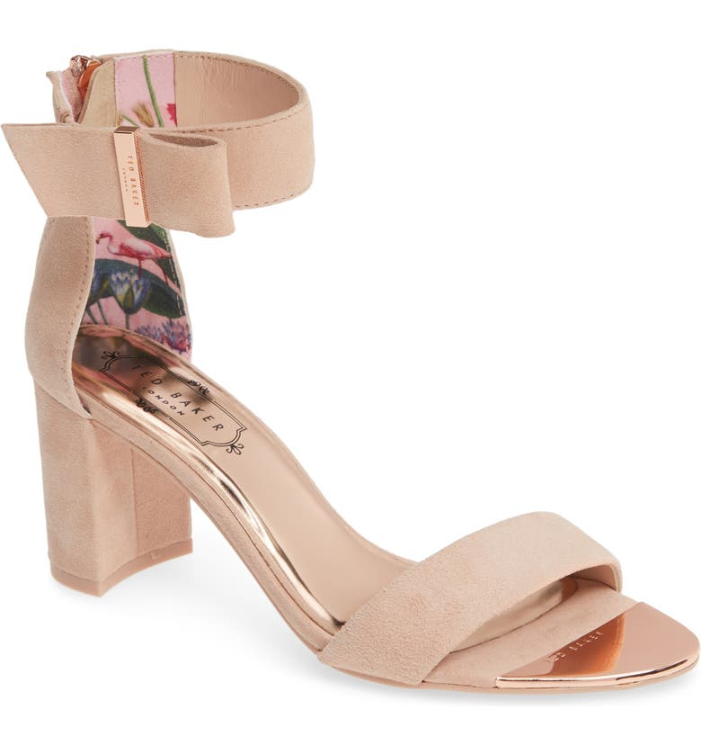 TED BAKER LONDON Katryne Sandal, Main, color, NUDE PINK SUEDE