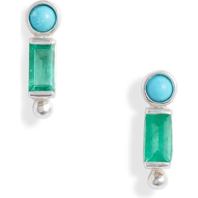 Anzie Dew Drop Bezel Stud Earrings