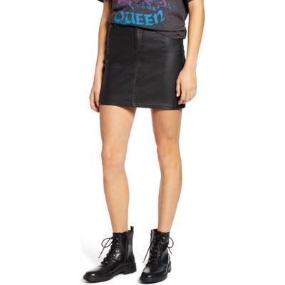 1822 Denim Coated Miniskirt, Black