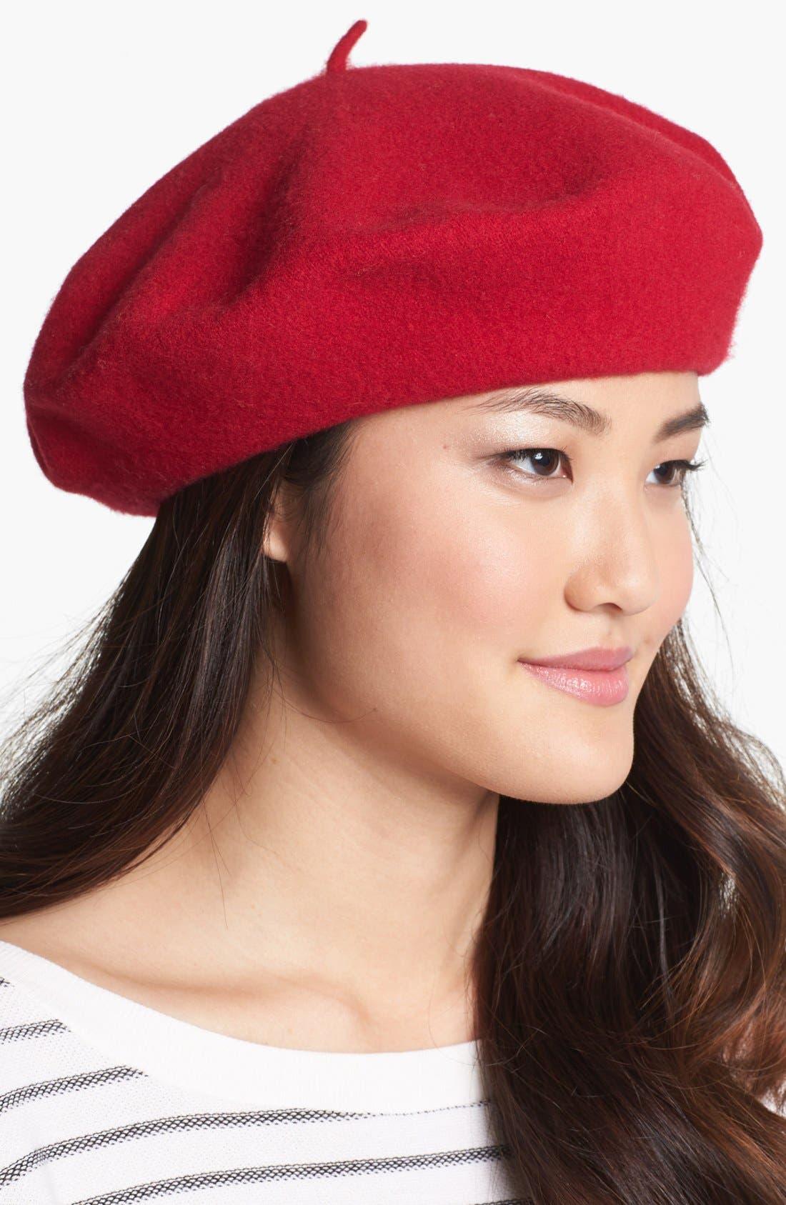 ,                             'Basic' Wool Beret,                             Main thumbnail 11, color,                             600