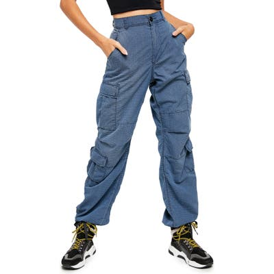 Free People City High Waist Cargo Pants, Blue