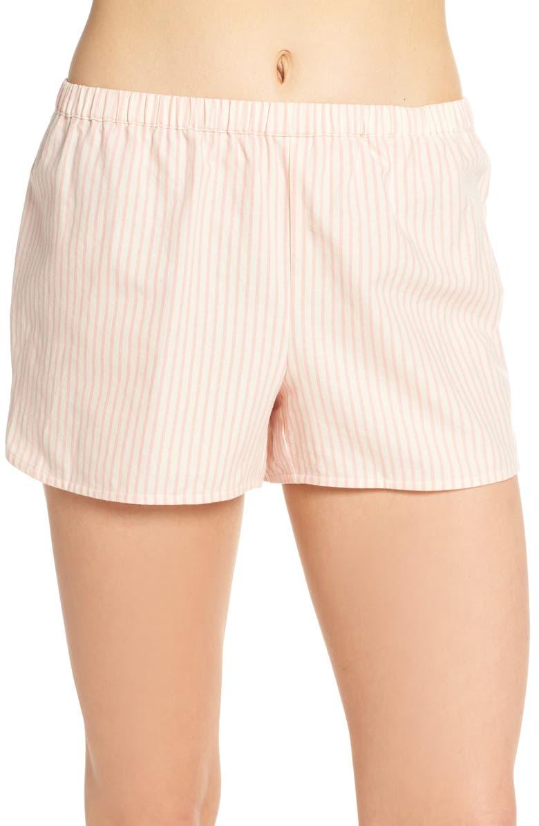 MADEWELL Alby Stripe Sleep Shorts, Main, color, 655