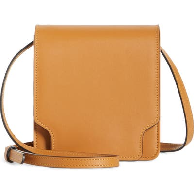 Marge Sherwood Pump Slim Leather Convertible Crossbody Belt Bag - Brown