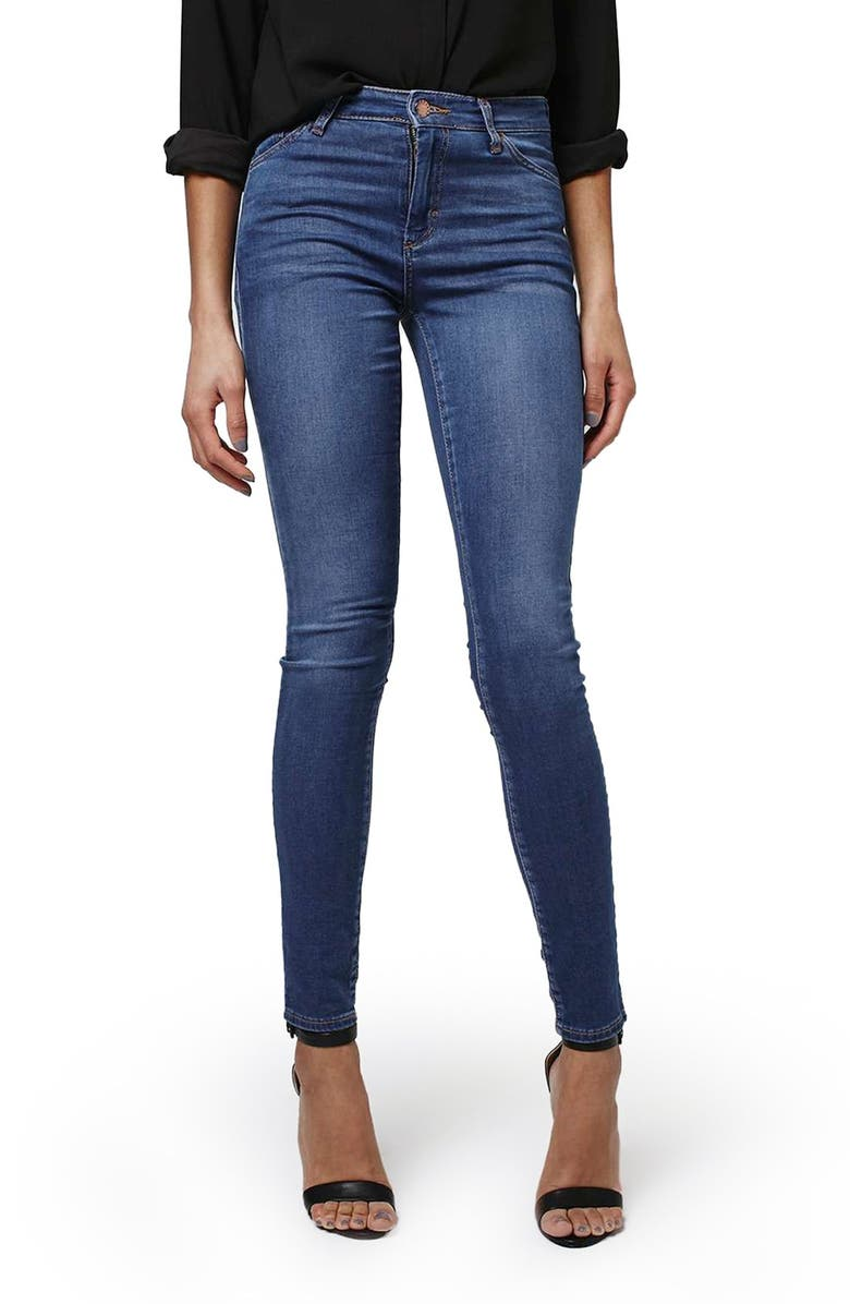 TOPSHOP 'Leigh' Ankle Skinny Jeans, Main, color, 400