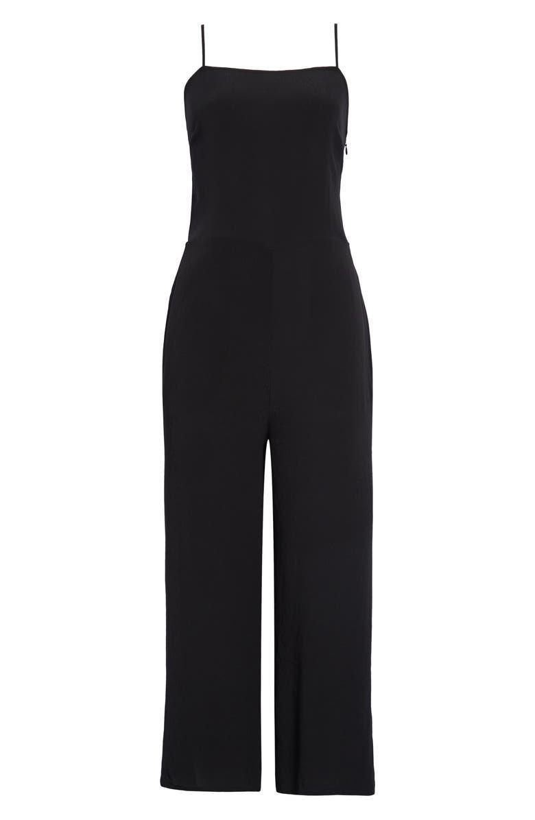 TREASURE & BOND Sleeveless Wide Leg Jumpsuit, Main, color, BLACK