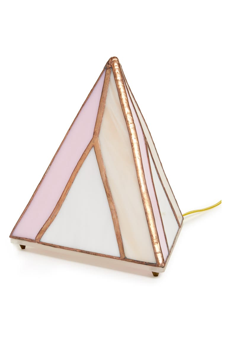 FRIEND OF ALL Pyramid Dusty Rose Lamp, Main, color, 650
