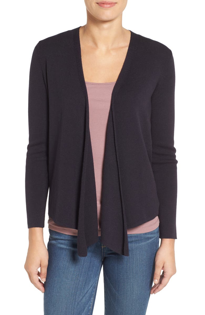 NIC+ZOE Four-Way Cardigan, Main, color, MIDNIGHT