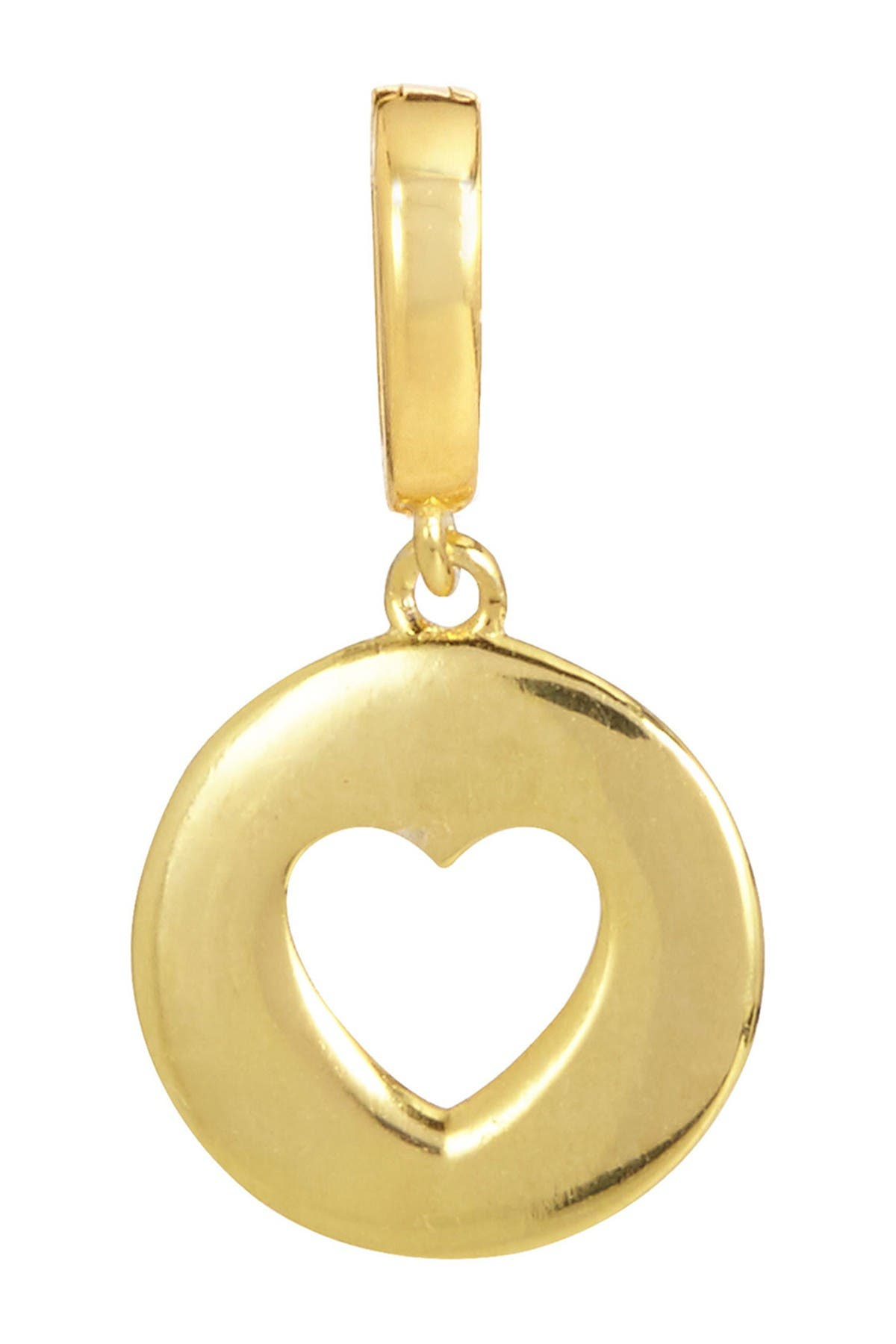 Image of Savvy Cie 18K Yellow Gold Vermeil Open Heart Charm